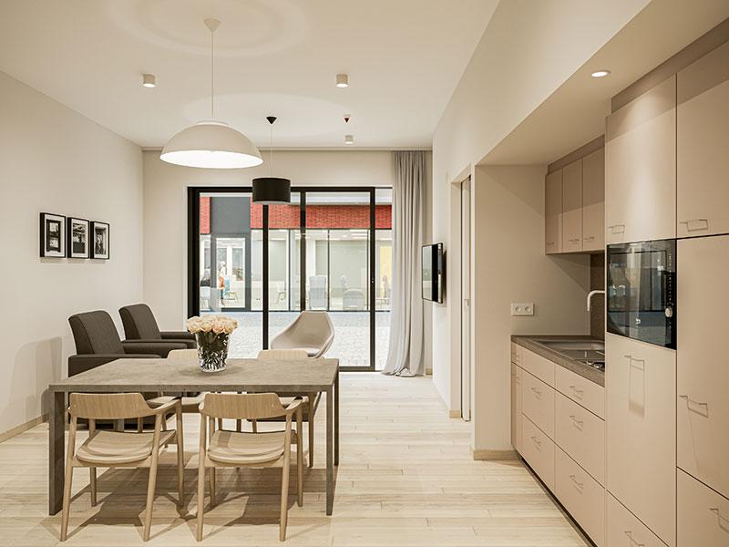 eigen flat keuken leefruimte teutenhof